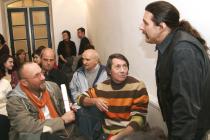 La Muzeul Național al Literaturii Rom�ne. Cu Ion Zubașcu, Constantin Stan, Valentin Iacob