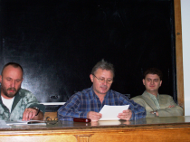 Lectură la Facultatea de Litere a Universității București. Cu Ioan Es. Pop și Daniel Cristea-Enache