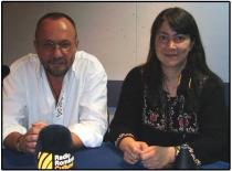 2009. Cu Ema Stere, realizatoarea emisiunii Vorba de cultură, �n studioul Radio Rom�nia Cultural