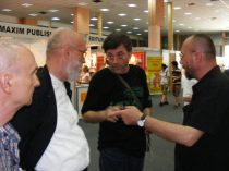 2010, T�rgul de Carte Bookfest. Cu Ion Zubașcu, Costel Postolache, Liviu Antonesei