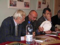 2013. Sighetu Marmaţiei. Cu Lucian Perţa şi Vasile Muste