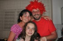 Cu Mirela, soția, și Clara, fiica cea mică