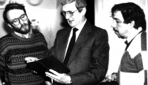 1992. Cu gen. Victor Atanasie Stănculescu și Florin Toma