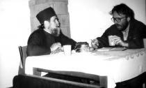 1992. Cu Părintele Arhimandrit Cleopa Nanu, starețul Mănăstirii Cheia