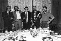 1995. Iași. Cu Alexandru Condeescu, Lucian Vasiliu și Valentin Nicolau