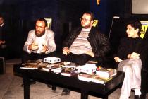 Anii '90. La Clubul Facultății de Litere, cu Vlad T. Popescu și Sebastian A. Corn