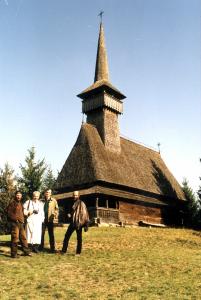 Anii '90. La Muzeul Satului Maramureșean (Sighetul Marmației). Cu Mihai Dăncuș (director), Nicolae Prelipceanu și Călin Angelescu